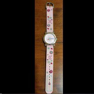 Naartjie Floral Watch Pink Band